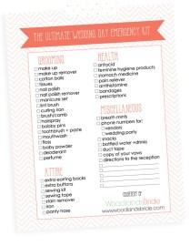Wedding Checklist For Bride