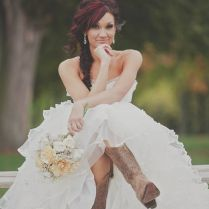 Wedding Gowns With Cowboy Boots