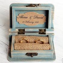 Wedding Ring Box, Ring Bearer Box, Jewelry Box, Wooden Jewelry Box
