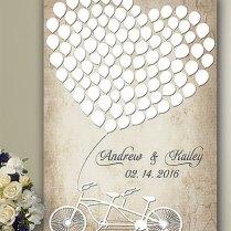Wedding Signs Wedding Guest Book Alternative, Wood Guest Book