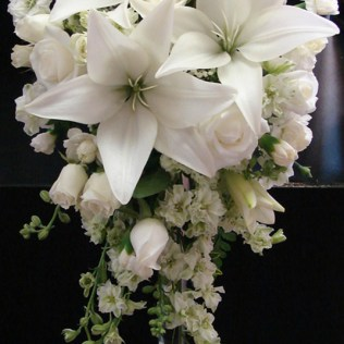 White Lily And Rose Wedding Bouquet
