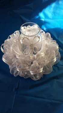 Winter Wonderland Wedding Reception Centerpiece Decor Silver