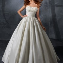 Wonderful Taffeta Strapless Ball Gown Wedding Dress Wd32 $625 00