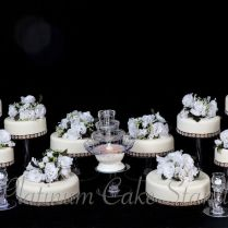 10 Tier Wedding Cake Stand With Fountain And 6 Candle Votive Set