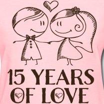 15th Wedding Anniversary T