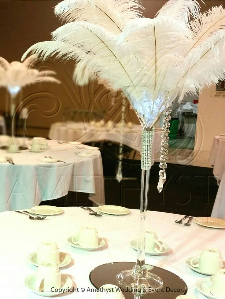 Martini Glasses For Wedding Centerpieces