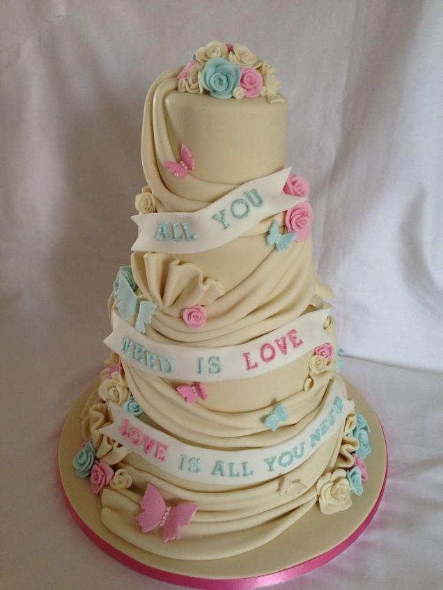 17 Best Images About All You Need Is Love Wedding Cakes On
