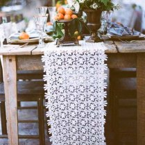 26 Ridiculously Pretty & Seriously Creative Wedding Table Runners