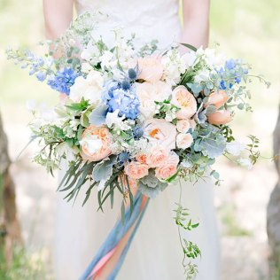 35 Something Blue Bridal Bouquets