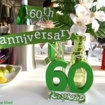 60th Anniversary Wedding Centerpiece Diy