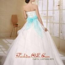Aqua Blue Wedding Dress
