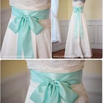 Aqua Bridal Sash