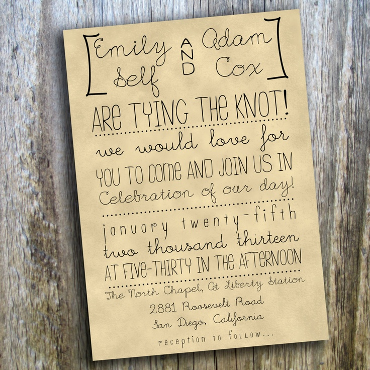 Outdoor wedding invitation wording stopboris Choice Image