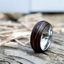 Beautiful Wooden Wedding Ring