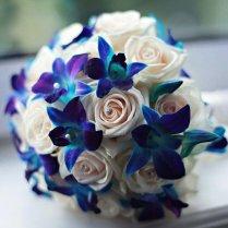 Best Blue Wedding Bouquets Blue Wedding