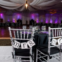 Black Purple And Silver Wedding Theme