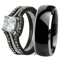 Black Wedding Ring For Her Accesories Wedding Rings Black Wedding