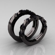 Black Wedding Rings His And Hers Black Inspiring Wedding Card Design