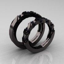 Black Wedding Rings His And Hers Black Inspiring Wedding Card Design