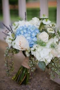 Blue And White Hydrangea Bridal Bouquet 275x412 Loudoun County