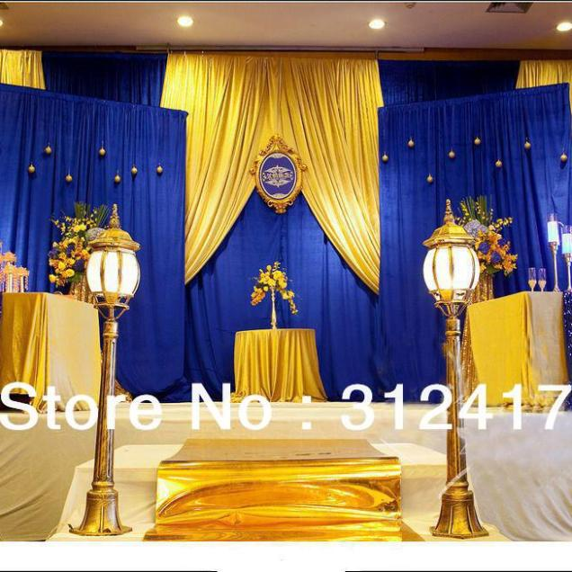 Blue And Yellow Wedding Table Decorations Royal Blue Yellow