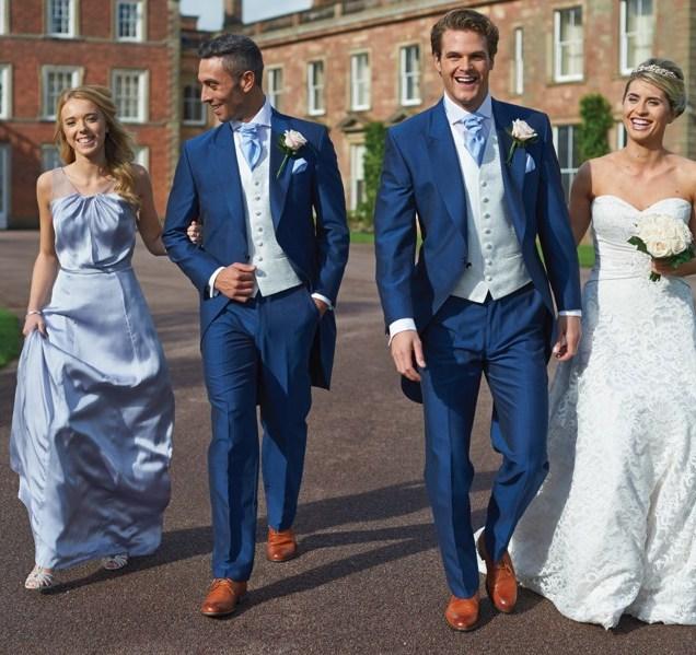 Blue Suit Wedding