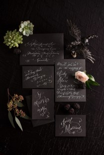 Bold Dramatic Blush And Black Wedding Ideas