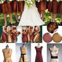 Bridesmaid Dresses Fall Outdoor Wedding