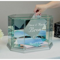 Buy Glass Wedding Card Box Personalized Octagon Money Box Online