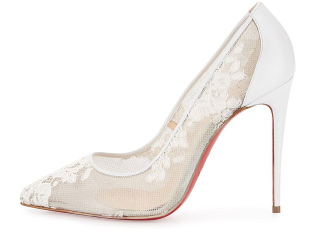 Christian Louboutin Wedding Shoes Ivory Louboutin Leather Booties