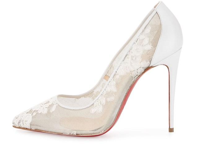 Christian Louboutin Wedding Shoes Ivory Louboutin Leather Booties