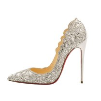 Christian Louboutin White Wedding Shoes