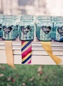Clever Mason Jar Drinking Glass Idea For Your Wedding Reception