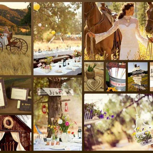 Country Style Themed Weddings