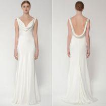 Cowl Neck Beach Wedding Dress