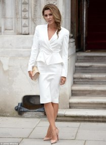 Danielle Lineker Wows In Peplum Jacket And Pencil Skirt For
