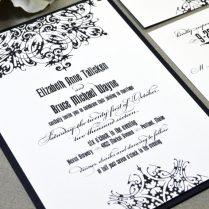 Dark And Debonair Invitations For Gothic Weddings