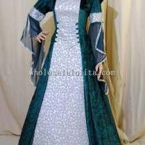 Dark Green And Silver Medieval Handfasting Renaissance Wedding