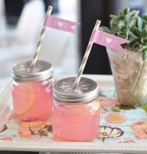Diy Blank Mason Jar Drinking Glasses With Flower Cut Lids