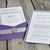 Elegant Pocket Card Wedding Invitation