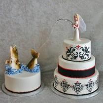 Fishing Wedding Cake Toppers