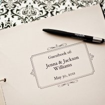Formal Wedding Guestbook Title Page