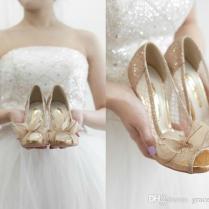 Garden Rose Slingbacks Wedding Shoes Satin Pumps Sandals T Straps