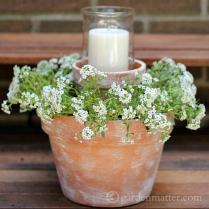 How To Create An Easy Flower Pot Centerpiece
