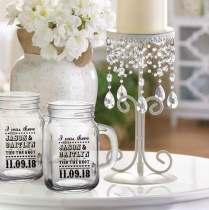 I Was There Wedding Favor Mason Jar Drinking Glass