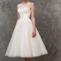 Ivory Tulle Illusion Neck A