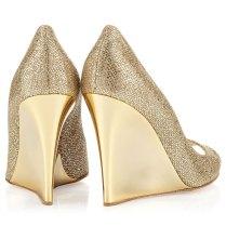 Jimmy Choo Gold Bello Wedges Wedding Shoes Highheel