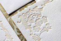 Letterpress Wedding Invitation Aria Sample