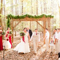 Maroon And Champagne Virginia Wooded Wedding