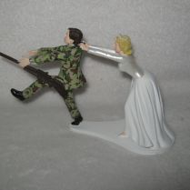 Military Cake Topper